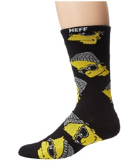 Neff Steezy Bart Socks Little Kid Big Kid Black Men's Crew Cut Socks Shoes