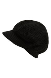 Women's Echo Chunky Knit Newsboy Hat Black