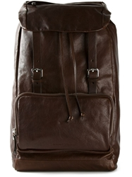 Brunello Cucinelli Buckle Strap Backpack