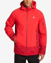 Champion Men's Big And Tall Tech Hooded Snowboard Jacket Scarlet