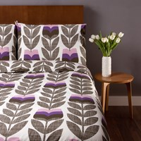 Orla Kiely Scribble Rosebud Duvet Cover Lavender Single