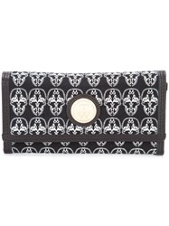 Thomas Wylde Skulls Envelope Clutch Women Cotton Leather One Size Black