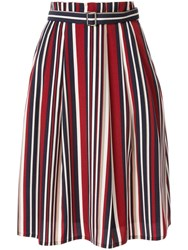 Guild Prime Striped Flared Skirt Multicolour