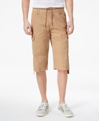 Guess Men's Boyd Cargo Shorts Honey Pie Washed