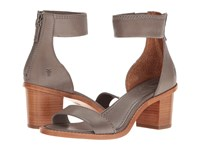 Frye Brielle Back Zip Charcoal Soft Full Grain Dress Sandals Taupe