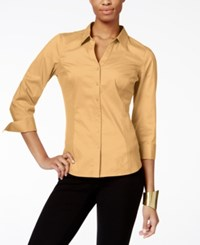 Ny Collection Side Panel Button Down Top