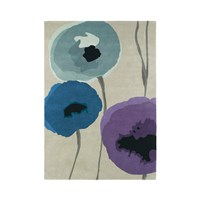 Sanderson Poppies Indigo Purple Rug 140X200cm