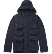 Nemen Slim Fit Shell Hooded Field Jacket Navy