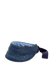 Lola Hats Eyeshadow Straw Visor Cap Navy