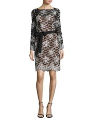 Nue By Shani Embroidered Lace Dress Black Nude