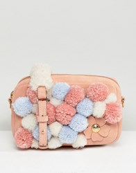 Ugg Janey Pink Pom Pom Cross Body Bag Dusty Coral