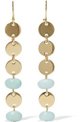 Elizabeth And James Gold Tone Stone Earrings Gold
