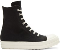 Rick Owens Drkshdw Black Canvas High Top Sneakers