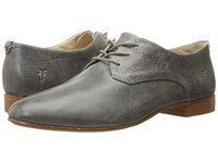 Frye Tracy Oxford Pewter Antique Pull Up Women's Lace Up Casual Shoes Gray
