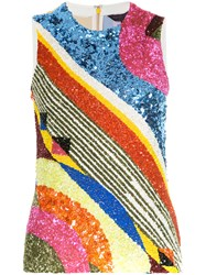 Manish Arora Geometric Patterned Tank Top Nylon Polyester