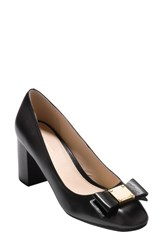 Cole Haan Women's Tali Bow Pump Black Leather