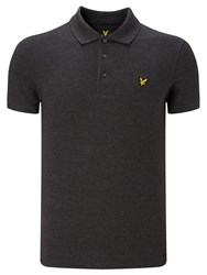 Lyle And Scott Plain Pique Polo Shirt Charcoal