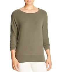 Cupcakes And Cashmere Emily's Favorite Sweatshirt Army Green