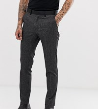Heart And Dagger Skinny Fit Suit Trousers In Stripe Black