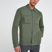 River Island Selected Homme Khaki Shacket