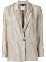 Forte Forte One Button Blazer Women Cotton Linen Flax Viscose Iii Nude Neutrals