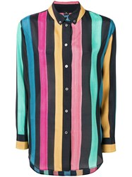 Paul Smith Ps Striped Shirt Blue