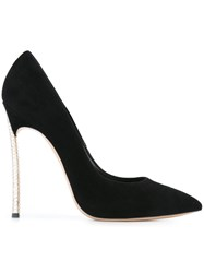 Casadei Studded Stiletto Heel Pumps Black