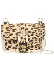 Red Valentino Animal Print Crossbody Bag Nude Neutrals