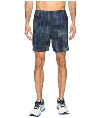 Asics 2 N 1 Woven 6 Shorts Poseidon Linear Blur Men's Shorts Blue
