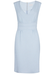 Almari V Neck Bodycon Dress Pale Blue