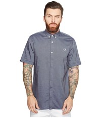 Fred Perry Short Sleeve Classic Oxford Shirt Dark Carbon Men's Clothing Navy