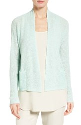Eileen Fisher Women's Slubbed Organic Linen And Cotton Cardigan