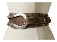 Leather Rock 1669 Chocolate Women's Belts Brown