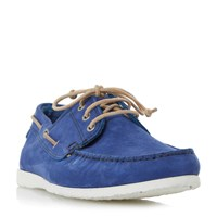 Dune Belize Lace Up Boat Shoe Blue