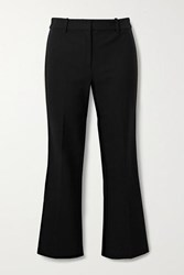 Derek Lam 10 Crosby By Corinna Cropped Striped Stretch Cotton Twill Flared Pants Black