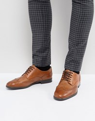 Hudson London H Indus Leather Brogue Shoes In Tan Tan