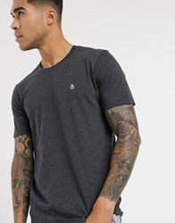 Original Penguin T Shirt In Grey With Icon Logo