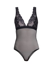 Stella Mccartney Sophie Surprising Lace And Mesh Body Navy