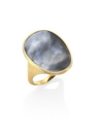 Marco Bicego Lunaria Black Mother Of Pearl And 18K Yellow Gold Ring Gold Grey