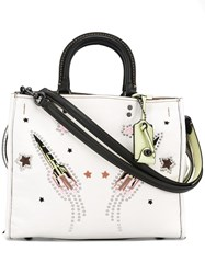 Coach Stud Embellished Tote Bag Nude Neutrals