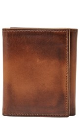 Fossil Men's Paul Leather Wallet Metallic Cognac