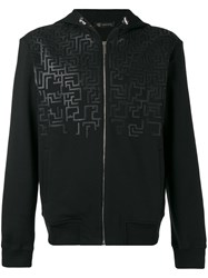Versace Greca Key Hooded Sweatshirt Black