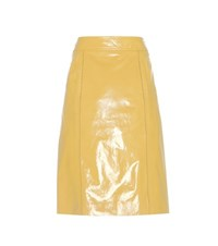 Bottega Veneta Leather Skirt Yellow