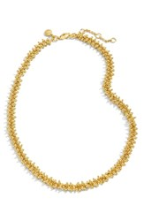 J.Crew Beaded Necklace Gold