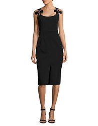 Betsy And Adam Embellished Sheath Dress Black