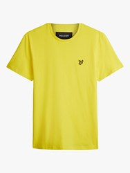 Lyle And Scott Plain Crew Neck T Shirt Buttercup Yellow