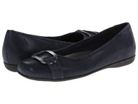Trotters Sizzle Dark Blue Patent Suede Lizard Leather Women's Dress Flat Shoes Navy