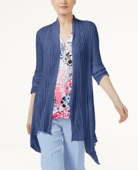 Inc International Concepts Asymmetrical Cardigan Only At Macy's Sail Blue