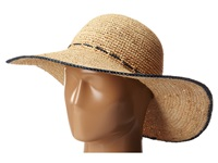 Hat Attack Adjustable Sunhat W Tipped Edge Natural Navy Traditional Hats Neutral