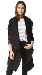 Blank Drape Front Jacket Blackout
